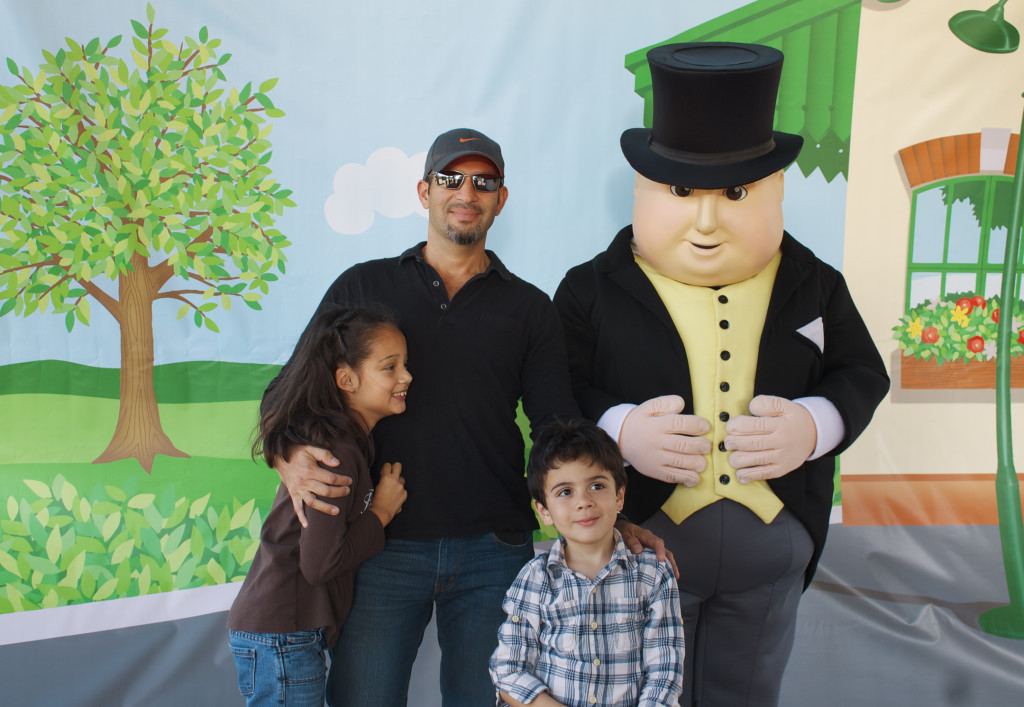 Pictures with Sir Topham Hat at the Florida Railroad Museum. Photo: Paula Benfeldt-Diaz. All rights reserved.