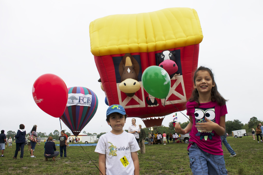 The Old McDonald balloon at the Balloons Over Paradise Festival. Photo: Paula Bendfeldt-Diaz. All Rights Reserved.