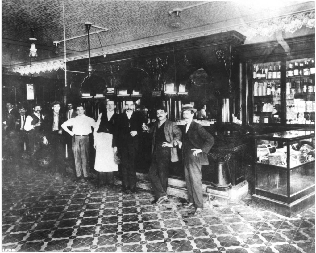 The Columbia Restaurant café dining room in 1906. This was the original 60-seat café that opened as the Columbia Restaurant in 1905.  Today it is one of 15 distinct dining rooms.  Photo courtesy the Columbia Restaurant.