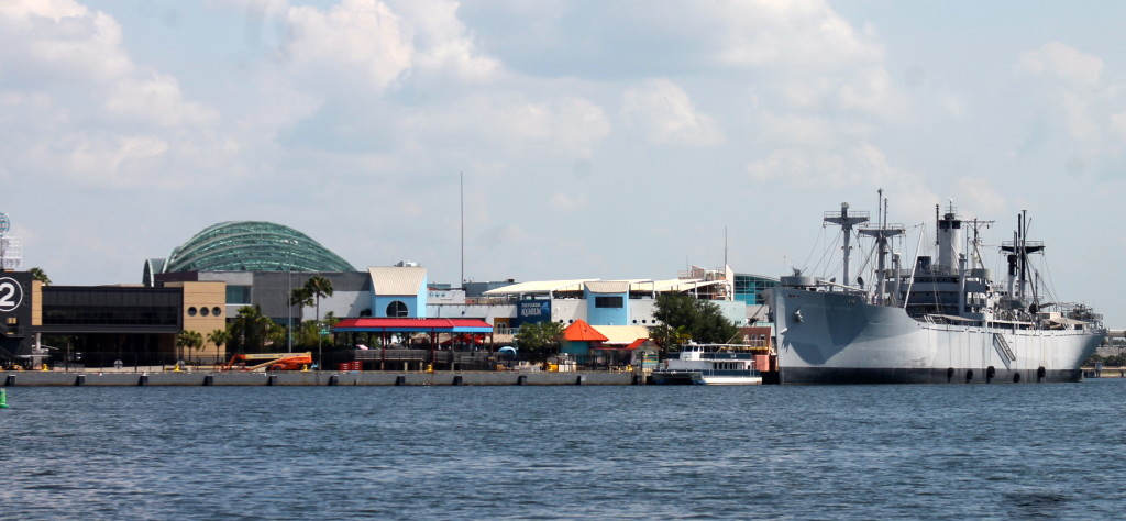 View of the Florida Aquarium from the bay. Photo: Paula Bendfeldt-Diaz. All Rights Reserved.