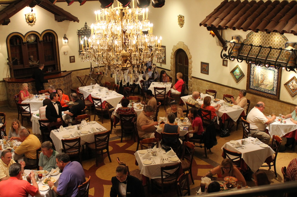 The Don Quixote dining room as it looks today at the Columbia in Ybor City.  This was the first air-conditioned dining room in Tampa, built in 1935. Photo: Paula Bendfeldt-Diaz. All Rights Reserved.