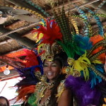 Samba dancers during the Carnaval del Mar at the Florida Aquarium. Photo: Paula Bendfeldt-Diaz. All Rights Reserved.