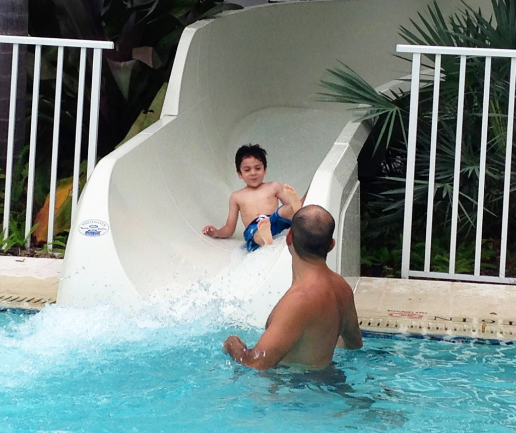 Having the best of times at the H2Whoa! Water Park in South Seas Island Resort. Photo: Paula Bendfeldt-Diaz. All Rights Reserved.