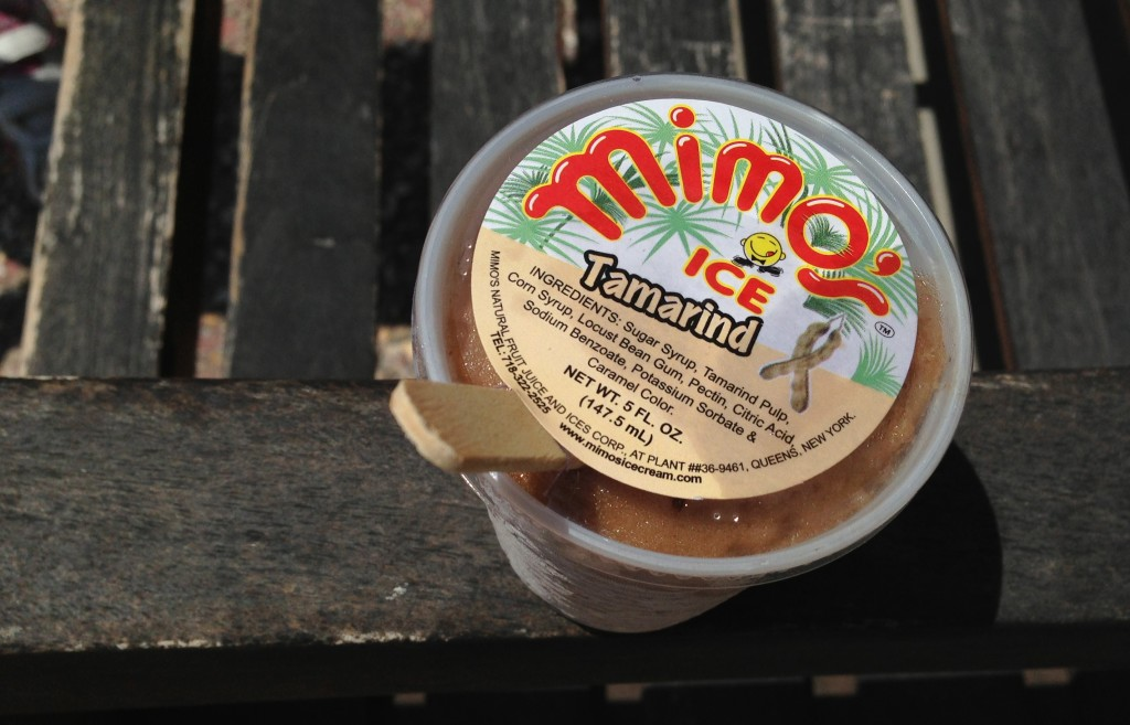 Tamarind ice at the Carnaval del Mar.