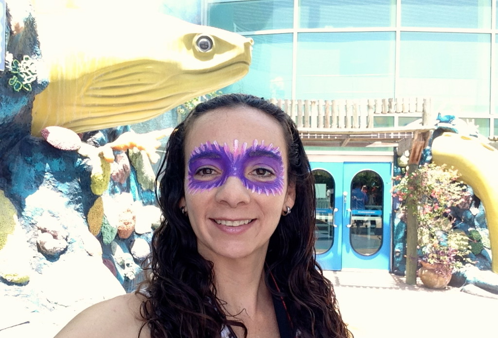Showing off my festive face art at the Carnaval del Mar. Photo: Paula Bendfeldt-Diaz. All Rights Reserved.