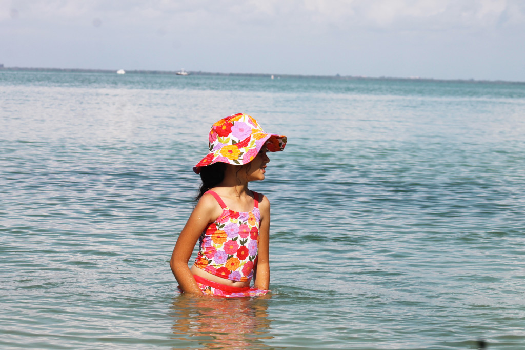 Enjoying the warm water of the gulf at South Seas Island Resort. Photo: Paula Bendfeldt-Diaz. All Rights Reserved.