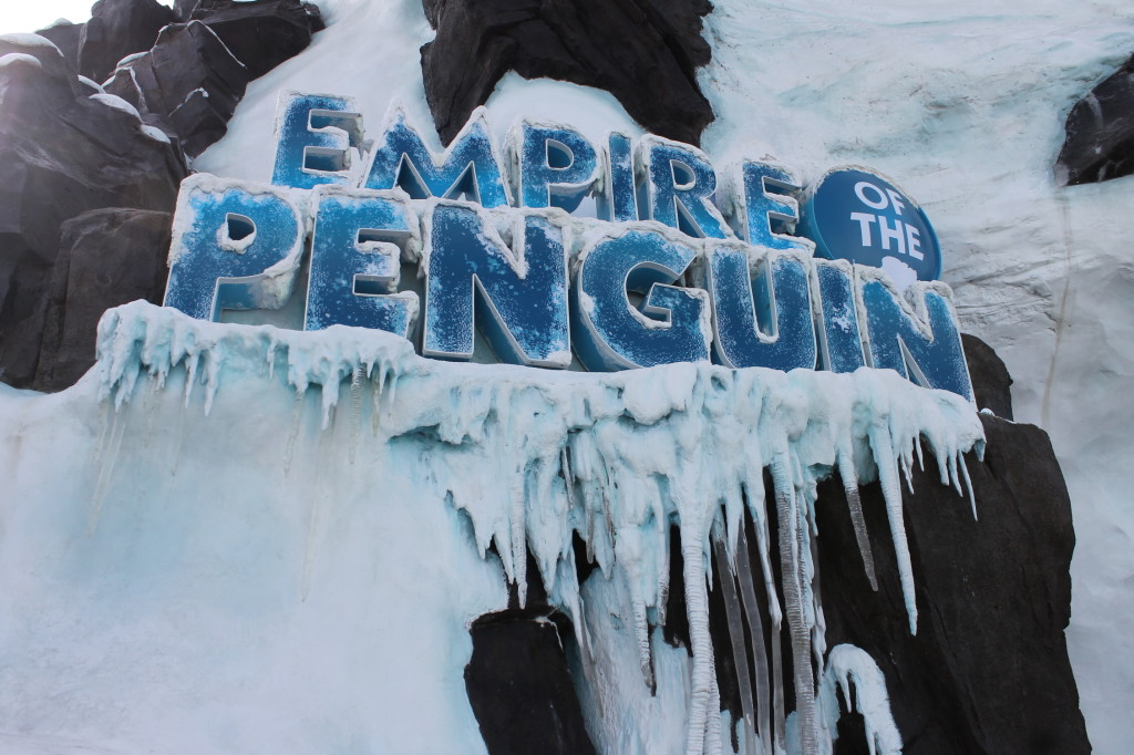 Antartica Empire of the Penguin sign