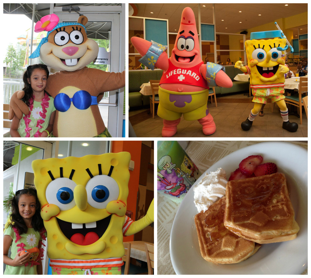 The Bikini Bottom breakfast with Sponge Bob and friends. Photos: Paula Bendfeldt-Diaz, all rights reserved.