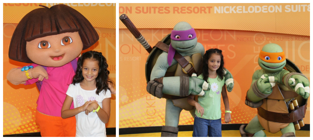 My daughter really enjoyed meeting all the Nick characters. Photos: Paula Bendfeldt-Diaz, all rights reserved.