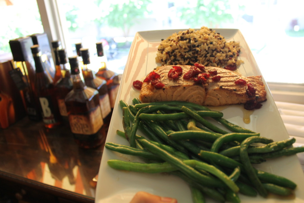 salmon with cranberries and honey