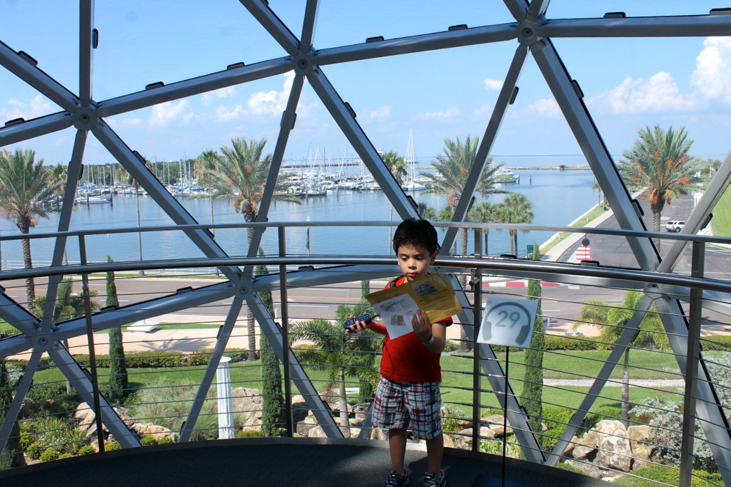 Little boy at Dalí Museum
