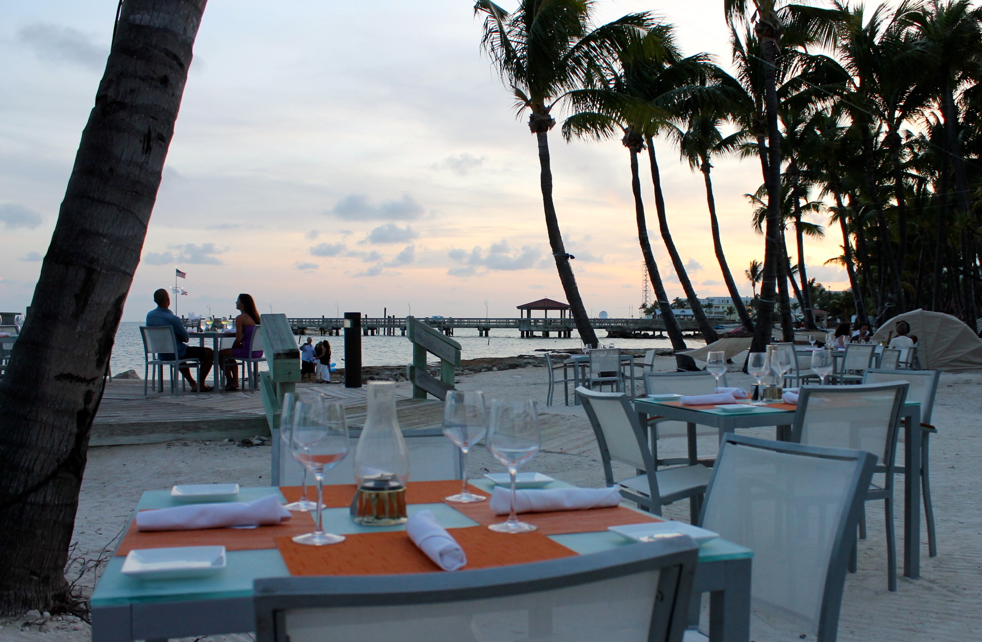 Toes In The Sand Sunset Dinner At Sun Restaurant Key West