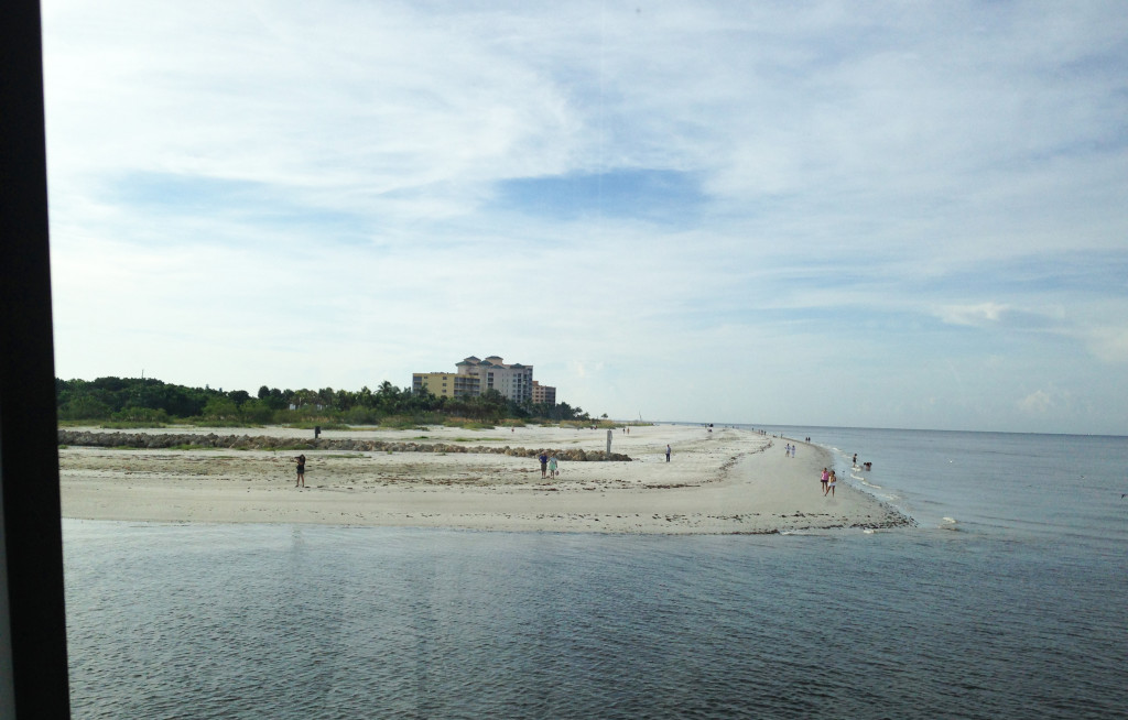 fort myers beach from the water