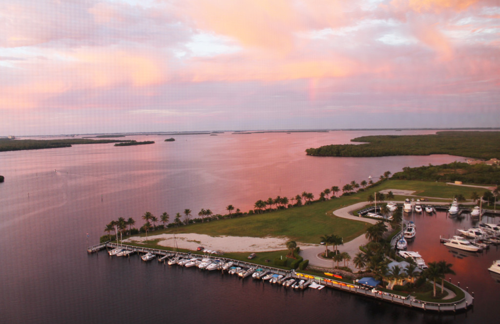 Westin Cape Coral sunset over the marina