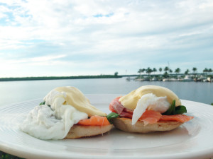 eggs benedict waterfront dinning CApe Coral Westin
