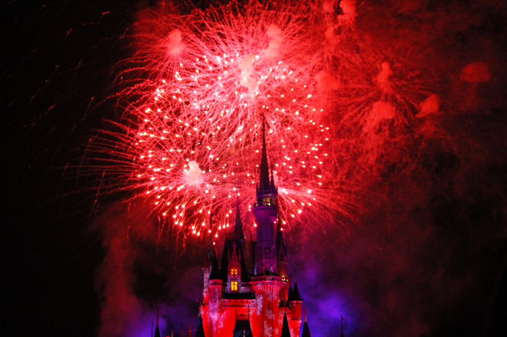 fireworks magic kingdom Mickey's very merry christmas party