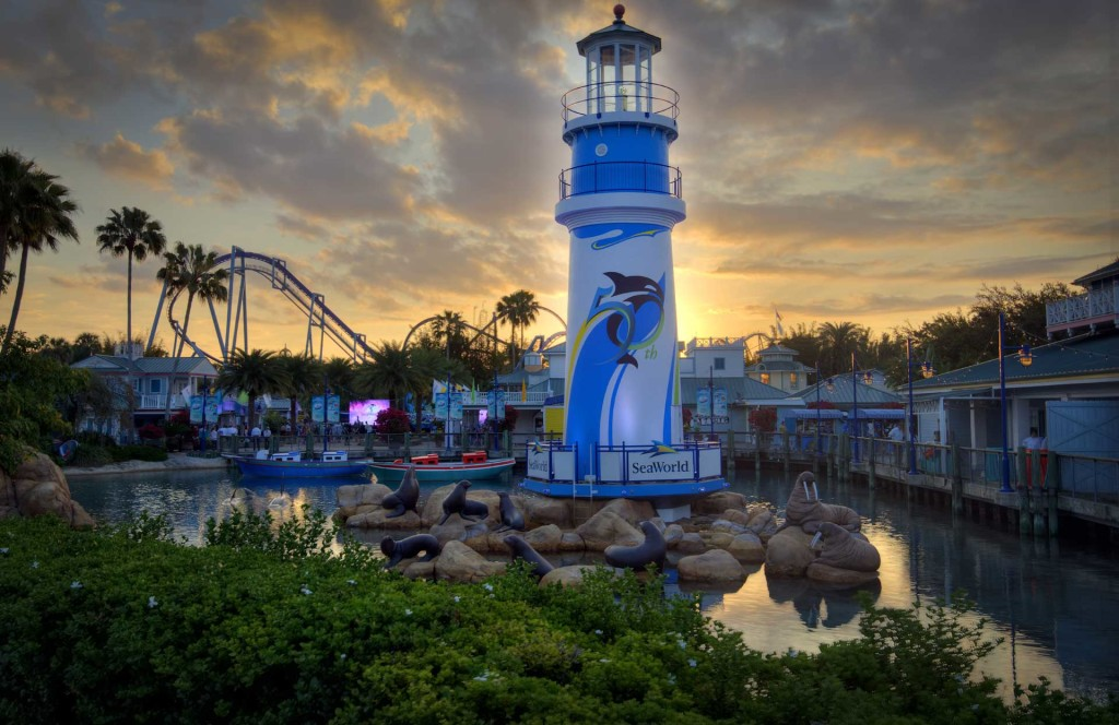 Lighthouse-with-50th-treatment-at-SeaWorld-Orlando-Seafun
