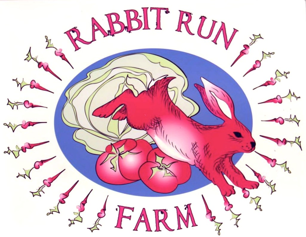 rabbit run farm logo sign