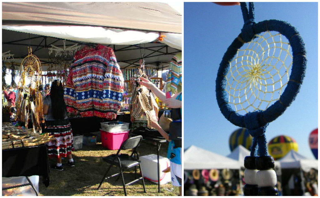 market at the balloon festival
