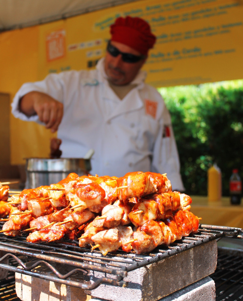 Pinchos cooking on the grill during Viva la Musica at SeaWorld.