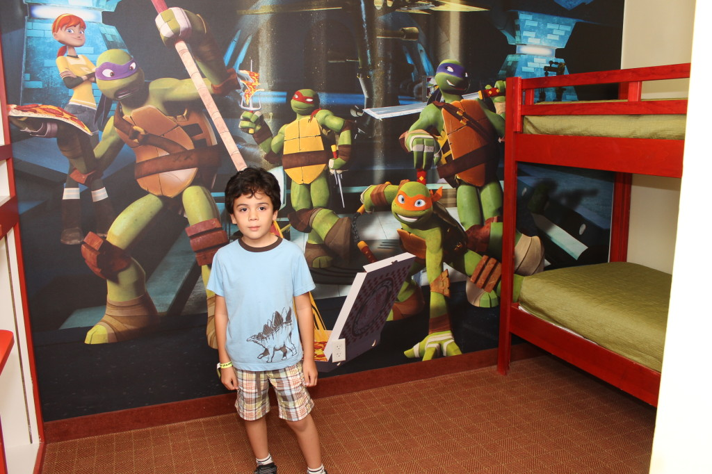Teenage Mutant Ninja Turtles themed suites at Nick Hotel