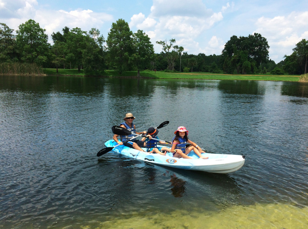 Kayaking at the Hyatt Regency Grand Cypress in Orlando