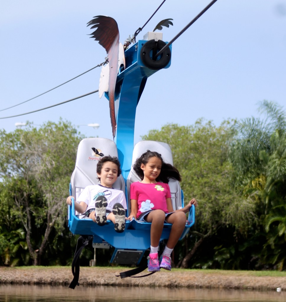 zipline at the shell factory Fort Myers