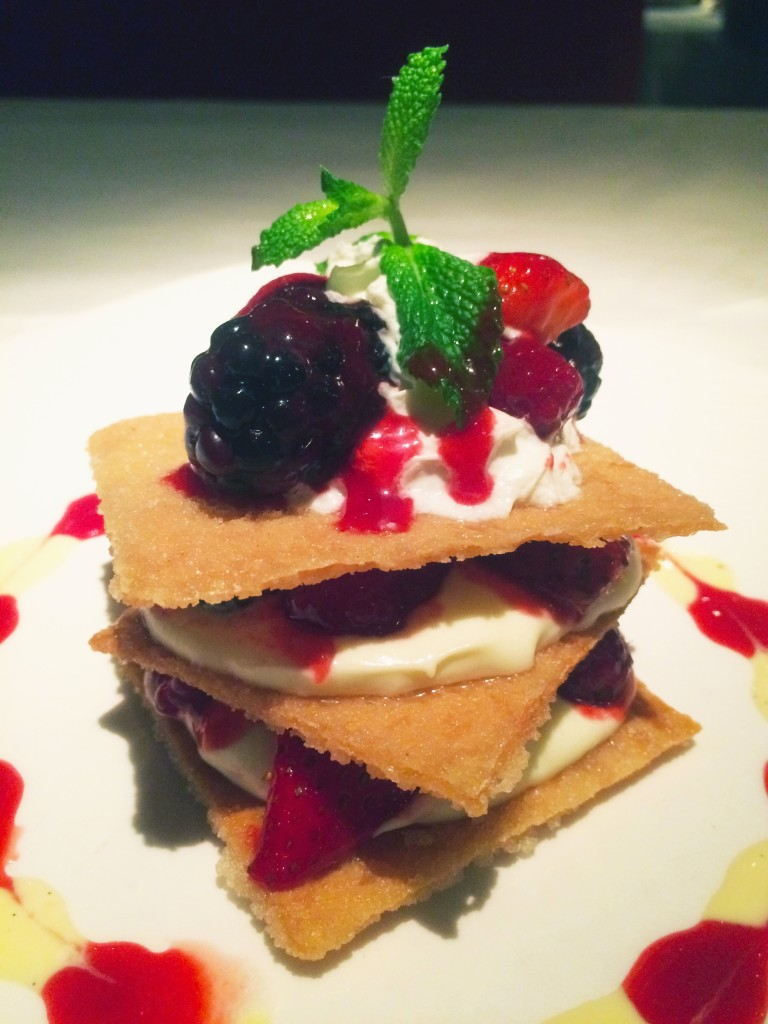 fresh berries dessert at Pazzo Restaurant Naples