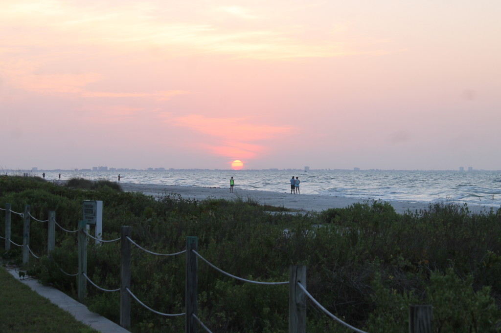 Sunset in Sanibel seen from Sundial Resort.