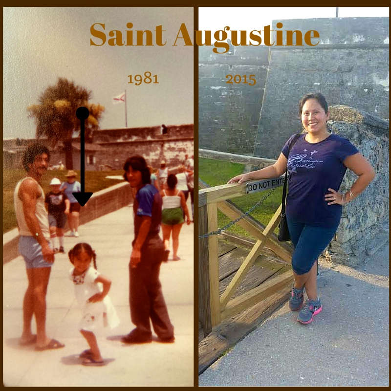 Saint Augustine before and after