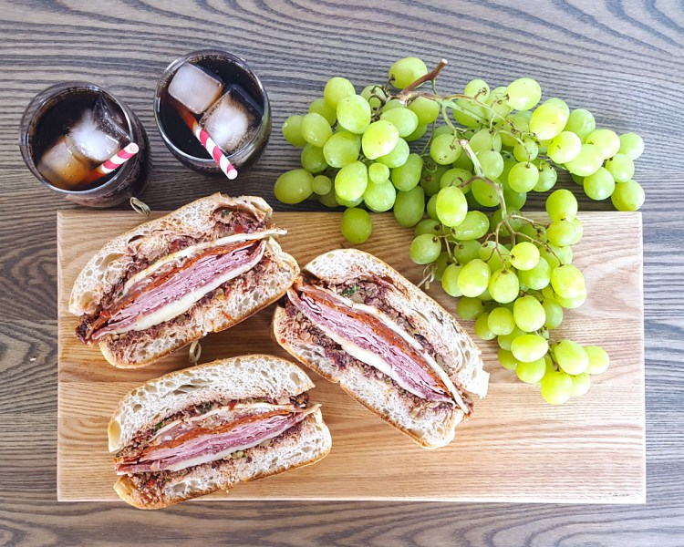 Pressed Muffuletta Sandwiches