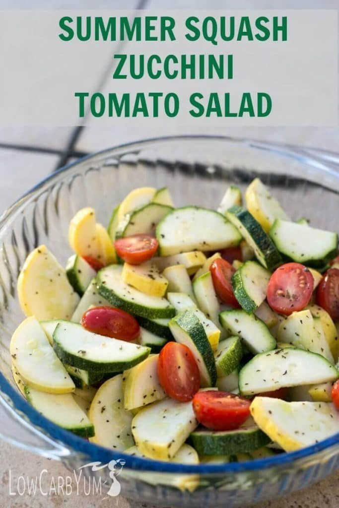 Summer Squash Zucchini and Tomato Salad