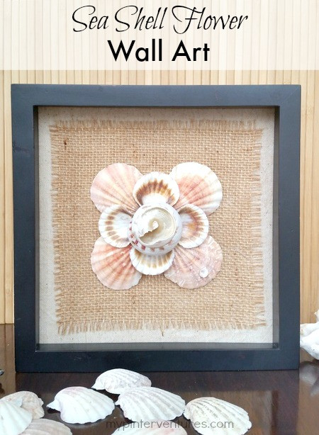 Sea Shell Flower Art Shell crafts to do with kids