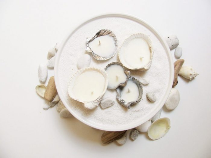 Seashell Candles Shell crafts to do with kids