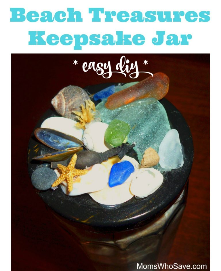 Seashell Jar Shell crafts to do with kids